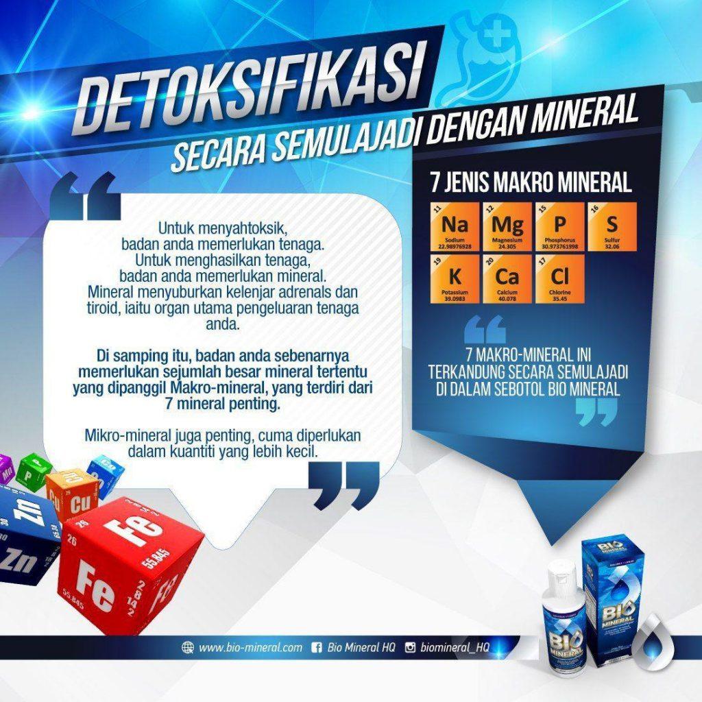 produk detoks yang terbaik untuk kesihatan menggunakan produk bio mineral ini