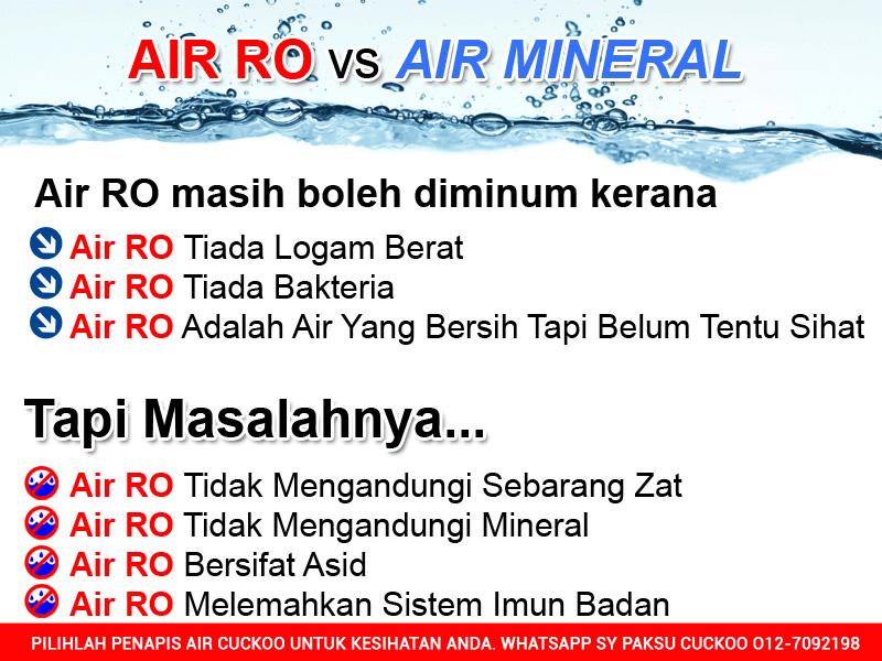 keburukan penapis air coway air ro vs air mineral keburukan dan kelemahan air ro untuk kesihatan