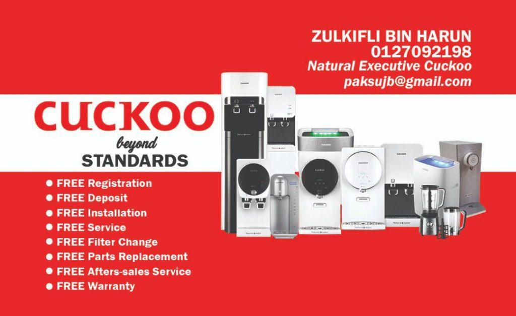 hubungi saya paksu cuckoo 0127092198 wakil cuckoo kulai agen cuckoo ejen penapis air cuckoo kulai