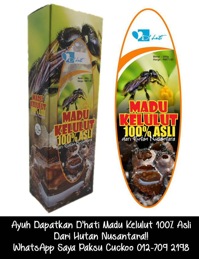 dapatkan dhati madu kelulut 100% asli dari hutan nusantara 012-7092198 paksu cuckoo agen madu kelulut johor bahru dan seluruh malaysia