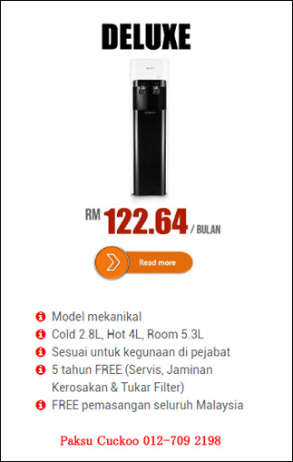 reviews penapis air cuckoo deluxe stand kelebihan penapis air cuckoo deluxe water filter