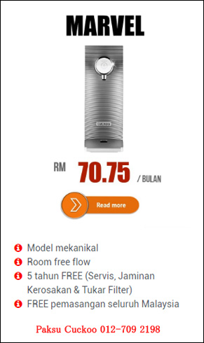 cuckoo water filter marvel specifications penapis air cuckoo marvel reviews kelebihan penapis air cuckoo marvel