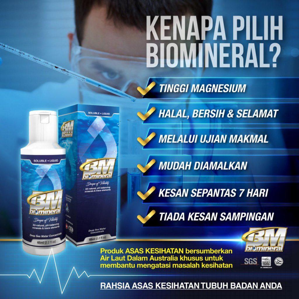 kenapa biomineral ini menjadi penawar penyakit yang mujarab sebagai solusi alternatif kepada pelbagai penyakit tubuh badan manusia