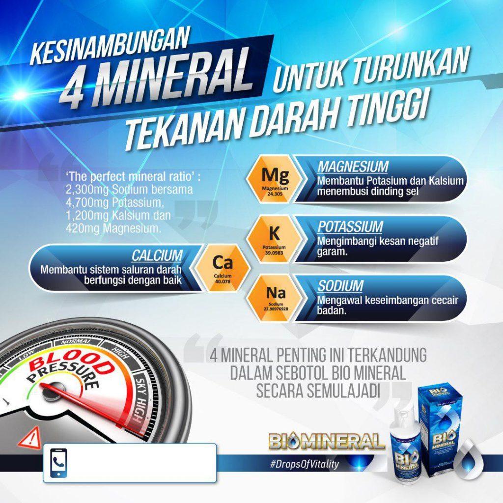 mineral yang bermanfaat untuk turunkan tekanan darah tinggi yang terkandung dalam biomineral sangat baik dan berkhasiat penawar darah tinggi yang mujarab