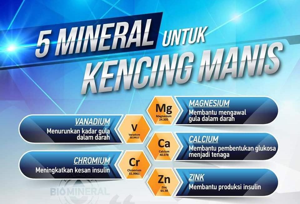 mineral yang diperlukan tubuh untuk ubat kencing manis paling mujarab dan berkesan secara semulajadi terkandung dalam biomineral