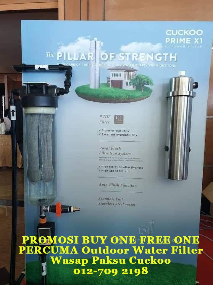 promosi cuckoo terkini penapis air cuckoo xcel percuma cuckoo outdoor water filter prime x1