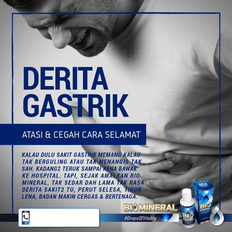 punca dan derita sakit gastrik penawar gastrik yang mujarab ubat gastrik yang terbaik dan berkesan guna biomineral