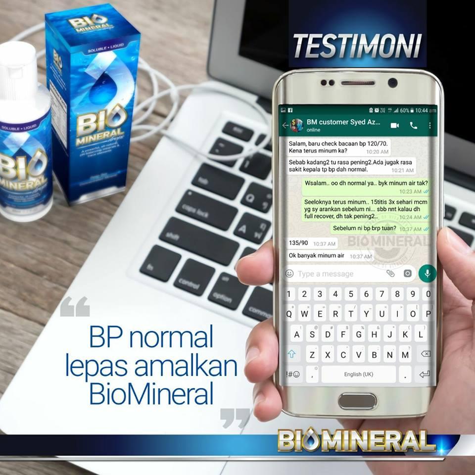 testimoni biomineral tekanan darah tinggi blood pressure menjadi normal selepas mengamalkan biomineral ini