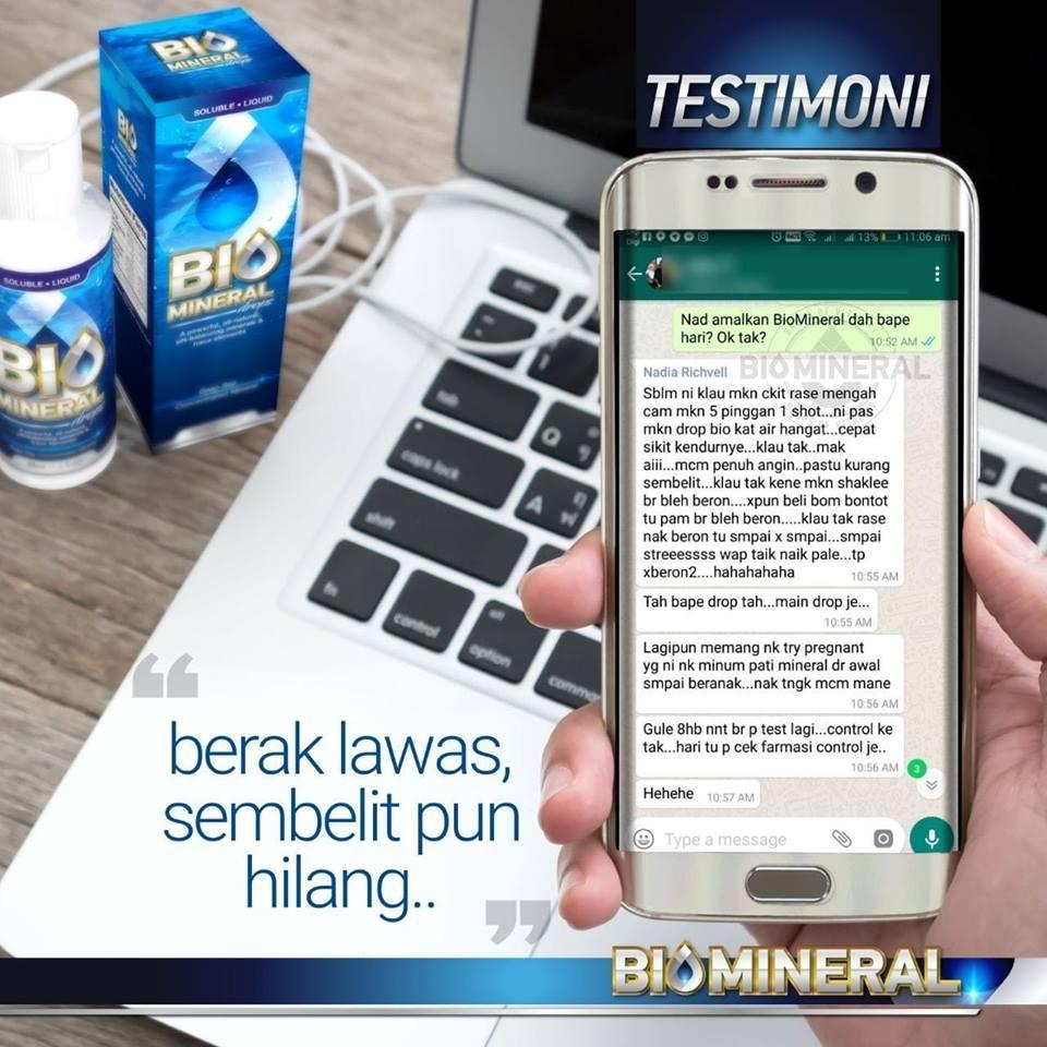 testimoni najis keras sembelit sakit ketika buang air besar dengan biomineral penawar dan ubat sembelit yang mujarab terbaik dan semulajadi
