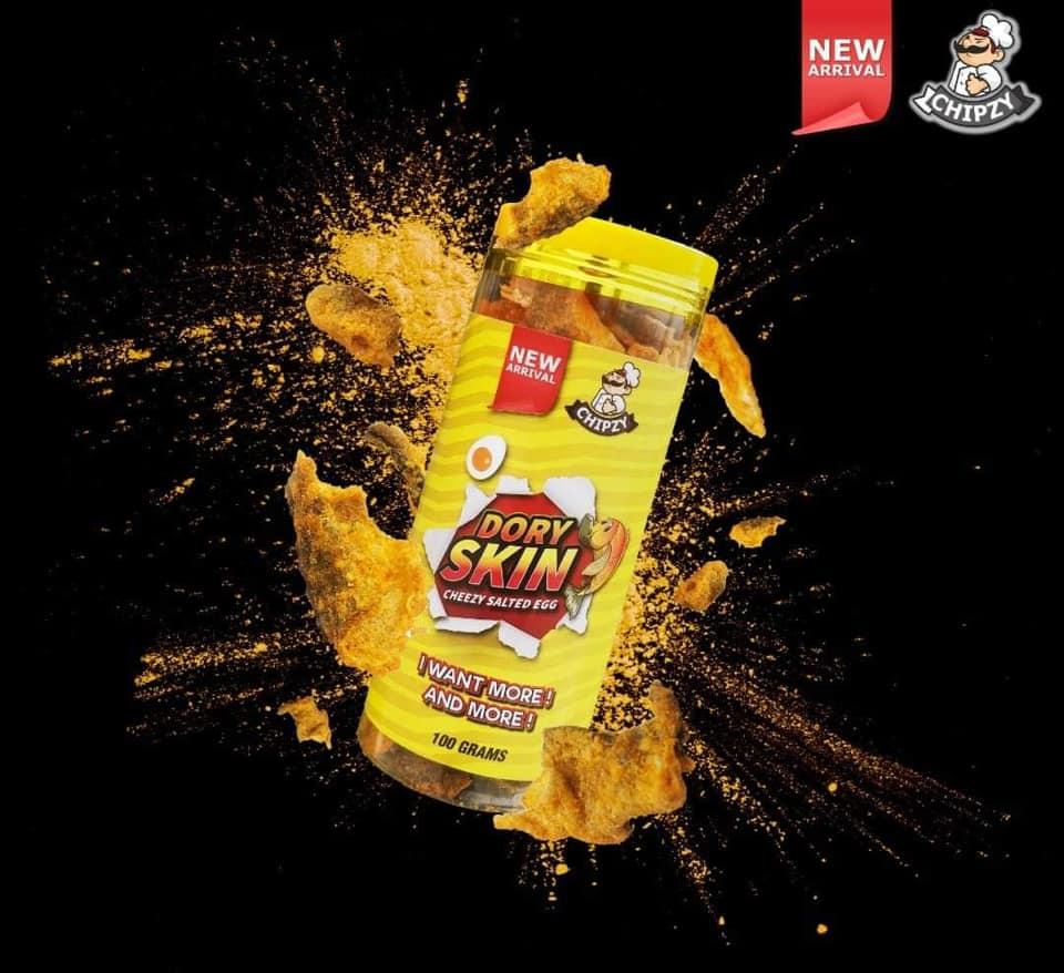 beli snek ringan paling viral 2019 di Malaysia Dory skin chezzy salted egg snek ringan palin sedap di Malaysia