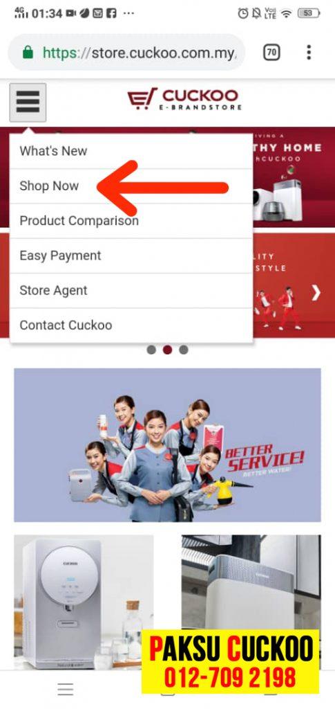 cara register produk cuckoo online mudah pantas dan cepat