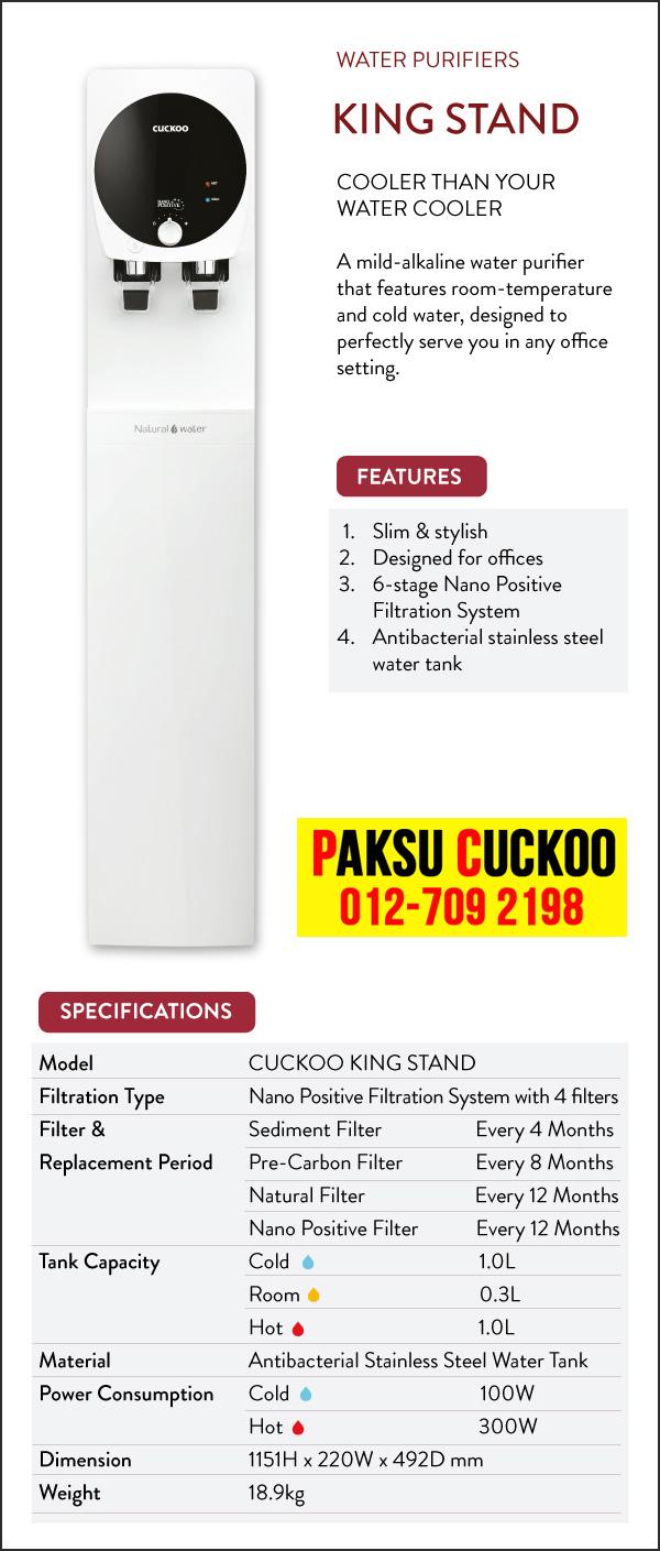 kelebihan kebaikan ciri ciri dan spesifikasi serta review penapis air cuckoo king stand lengkap memenuhi keperluan pengguna produk penapis air terbaik di malaysia 2019 ini cuckoo vs coway air bermineral dan beralkali ringan