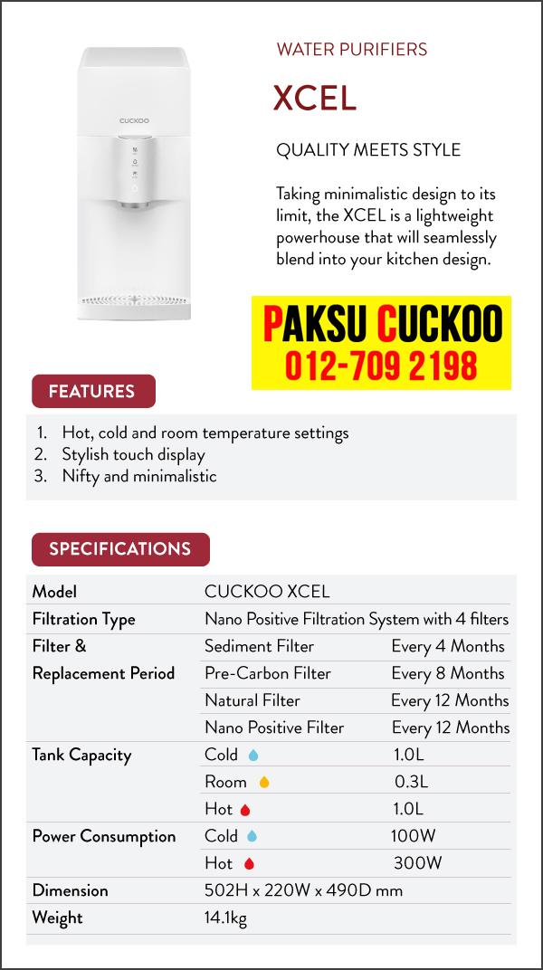 kelebihan kebaikan ciri ciri spesifikasi dan review penapis air cuckoo xcel penapis air terbaik di malaysia air bermineral dan beralkali ringan terbaik berbanding coway