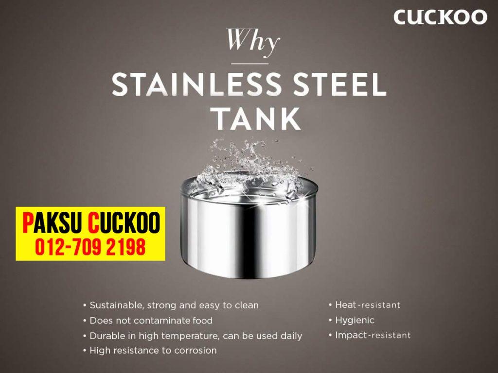 kelebihan penapis air cuckoo kebaikan penapis air cuckoo semua tangki penapis air cuckoo diperbuat dari stainless steel