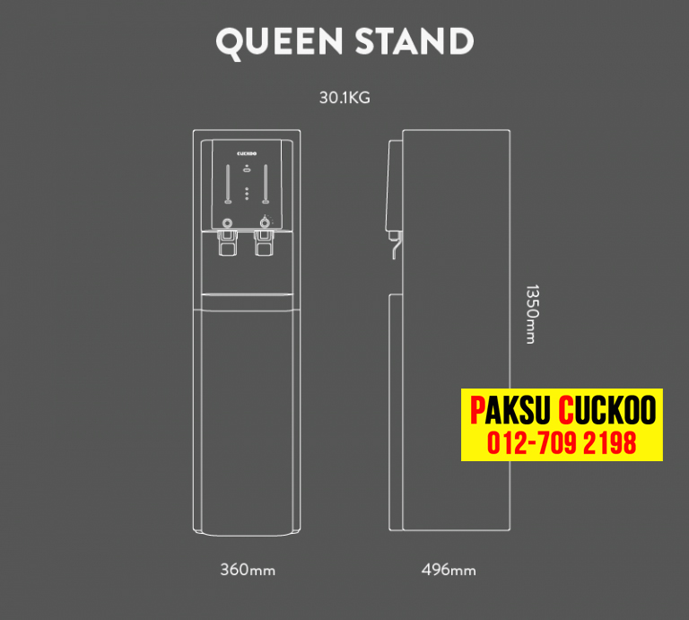 pasang penapis air cuckoo queen stand dengan spesifikasi dan review penapis air yang terbaik di malaysia bagaimana atau macam mana nak jadi agen cuckoo