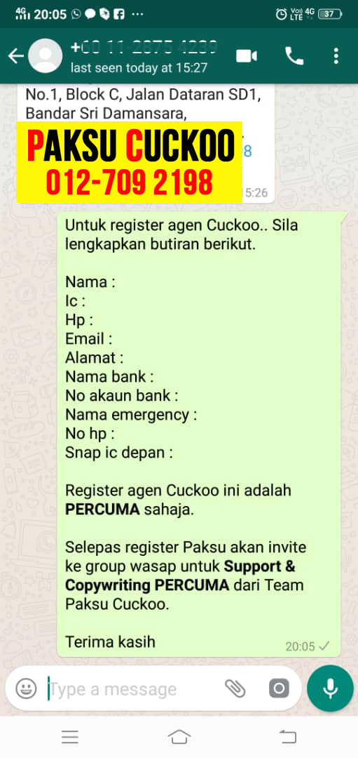 registration cara register dan daftar jadi agen cuckoo labuan jadi ejen cuckoo jadi agent cuckoo di wilayah persekutuan labuan