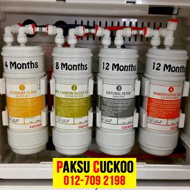 servis penapis air cuckoo terbaik ganti filter dengan kerap filter mineral dan beralkali