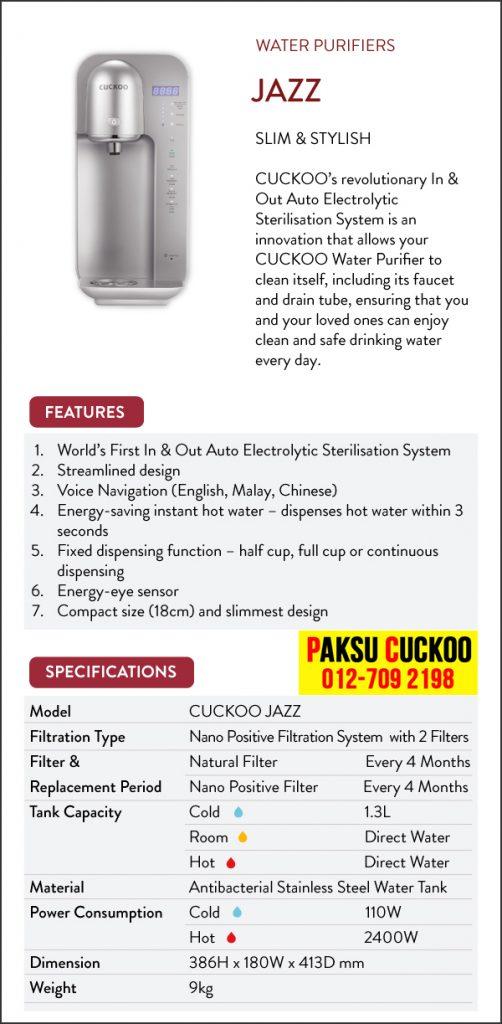 spesifikasi kelebihan kebaikan ciri ciri dan review penapis air cuckoo jazz mesin penapis air cuckoo terbaik vs penapis air coway penapis air cuckoo terbaik untuk kegunaan seisi keluarga terbaik di malaysia