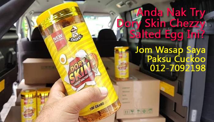 stokis dory skin chezzy salted egg johor paksu cuckoo 0127092198