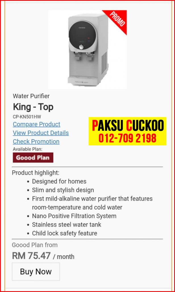 8 penapis air cuckoo king top model review spec spesifikasi harga cara beli agen ejen agent price pasang sewa rental cuckoo water purifier Kamunting, Karai, Kota Setia, Kuala Kangsar,