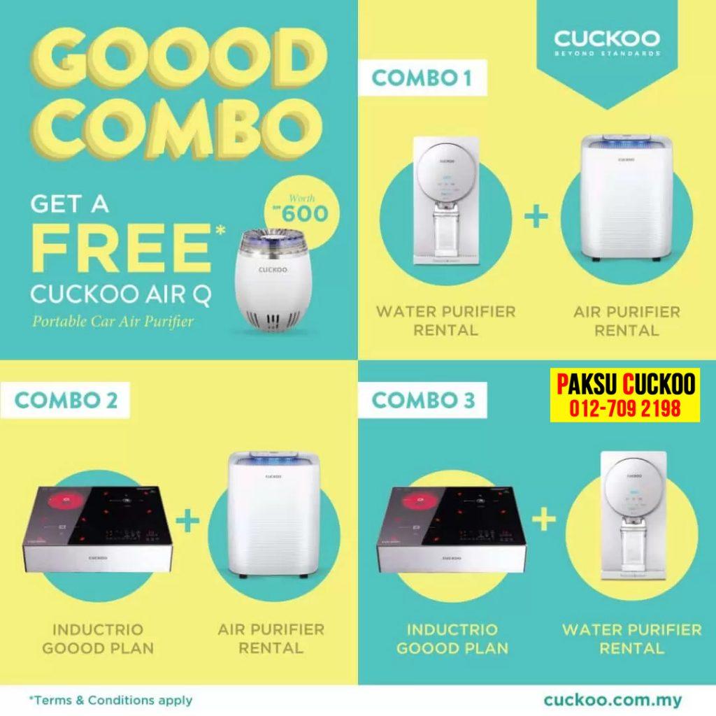 pilihan promosi combo cuckoo terkini dan terbaru dari cuckoo hadiah percuma bernilai RM600 atas setiap pembelian combo