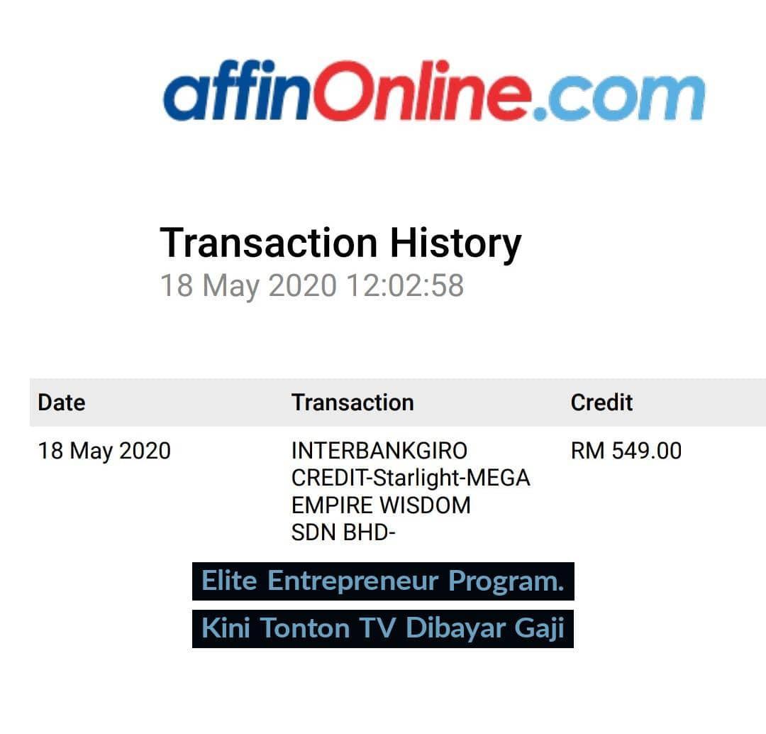 1aa pendapatan tambahan jana income online yang dijana melalui starlight tv affiliate program