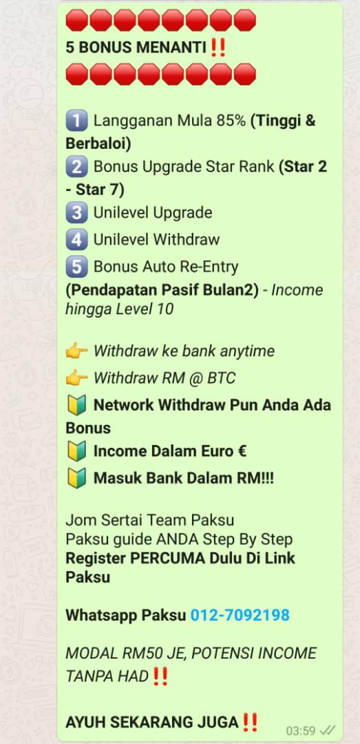 potensi income bisnes starlight tv