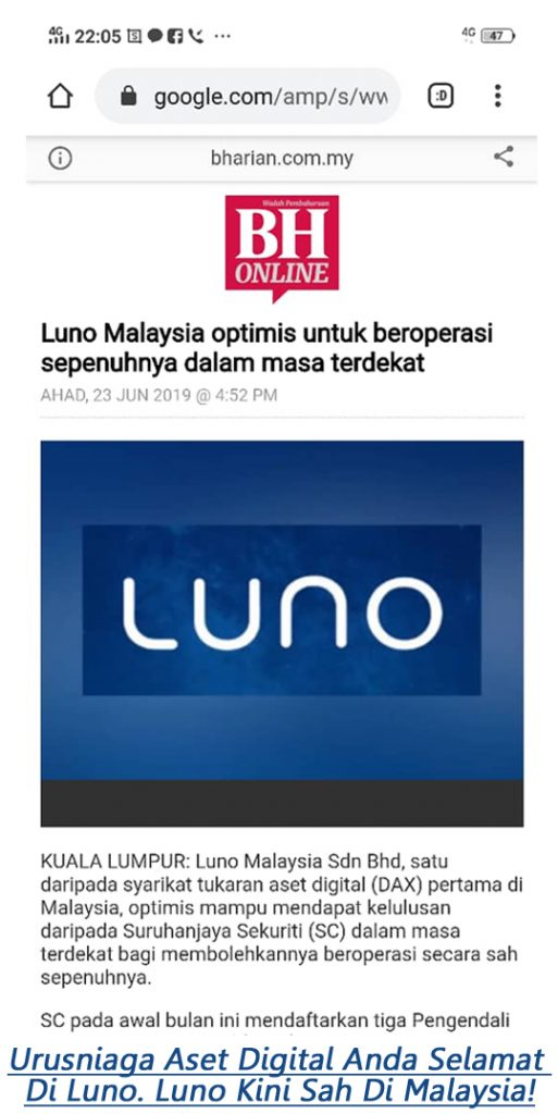 luno kini sah di malaysia jual beli aset digital anda ethereum bitcoin mudah selamat dan cepat jana income dari aset digital dengan forsage malaysia