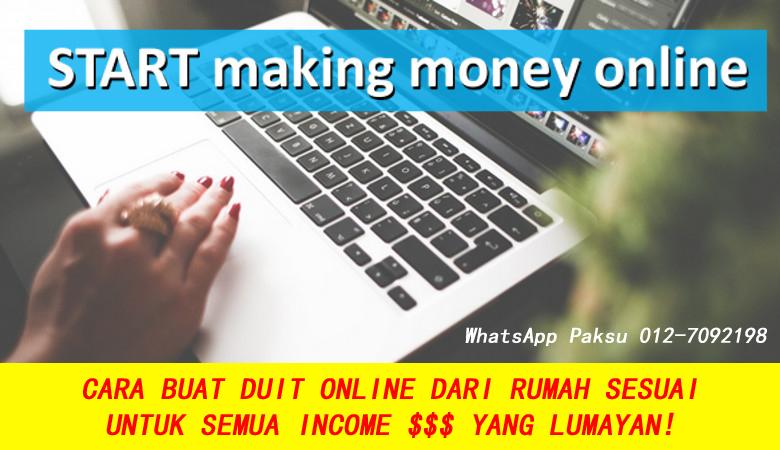 Cara Buat Duit Online Yang Sesuai Untuk Semua Yang Berani Mencuba extra income jana pendapatan dari rumah dengan mudah