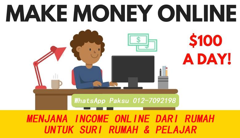 Menjana Income Online Dengan Mudah Untuk Suri Rumah Dan Pelajar buat duit tambahan extra income kerja bisnes sampingan sambilan part time