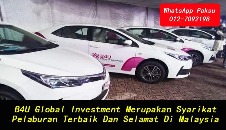 B4U Global Investment Merupakan Syarikat Pelaburan Terbaik Dan Selamat Di Malaysia company investment income pasif setiap minggu pelaburan dividen bulanan best smart saving plan malaysia