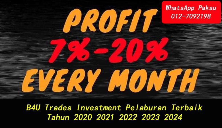 B4U Trades Investment Pelaburan Terbaik Tahun 2020 2021 2022 2023 2024 syarikat company pelaburan investment paling baik terbaik di malaysia
