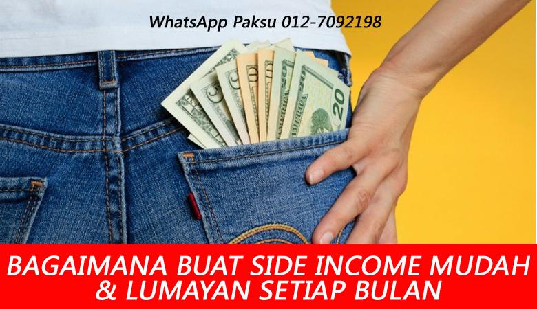 bagaimana cara buat side income terbaik mudah dan lumayan cara jana side income kaedah teknik panduan rahsia buat pasif income