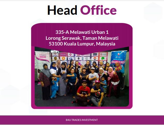 ibu pejabat hq b4u trades investment global malaysia b4u group of companies syarikat pelaburan yang kukuh bayar profit harian kepada pelabur di malaysia