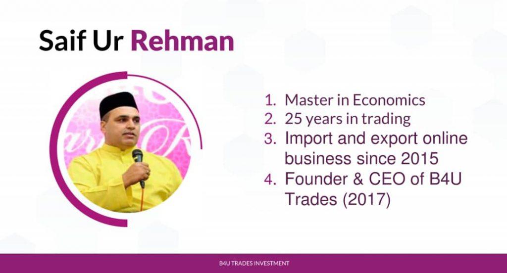 pengasas dan pemilik b4u group of companies b4u trades investment global malaysia platform pelaburan terbaik selamat malaysia masa kini 2020 2021 2022 2023 2024