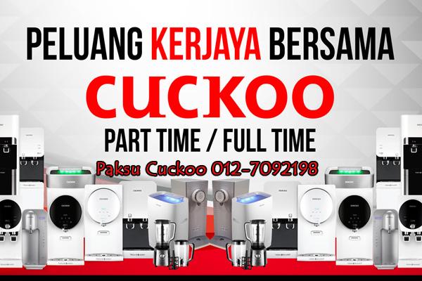 mencari peluang bina kerjaya dengan pendapatan yang lumayan bersama cuckoo