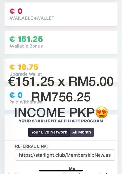 cara mudah menjana income dari rumah dengan program affiliate starlight tv