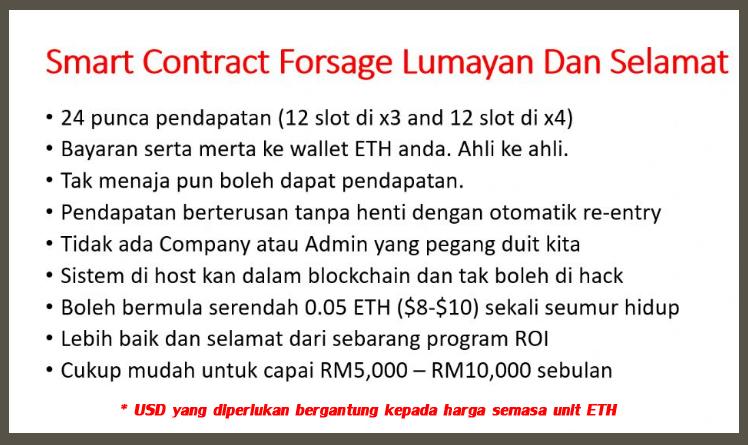 kelebihan program forsage malaysia melalui smart contract di blockchain ethereum etherscan io program kumpul dan gandakan aset digital anda secara selamat