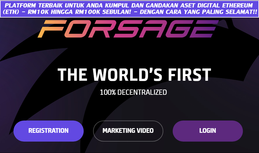 platform forsage io malaysia platform kutip kumpul gandakan aset digital matawang kripto cryptocurrency ethereum eth dengan cara yang paling selamat terjamin menguntungkan pelaburan terbaik