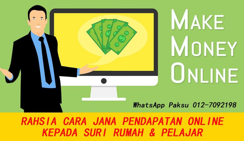 Cara Jana Pendapatan Online Kepada Suri Rumah Dan Pelajar buat duit tambahan extra income bisnes kerja sampingan sambilan online