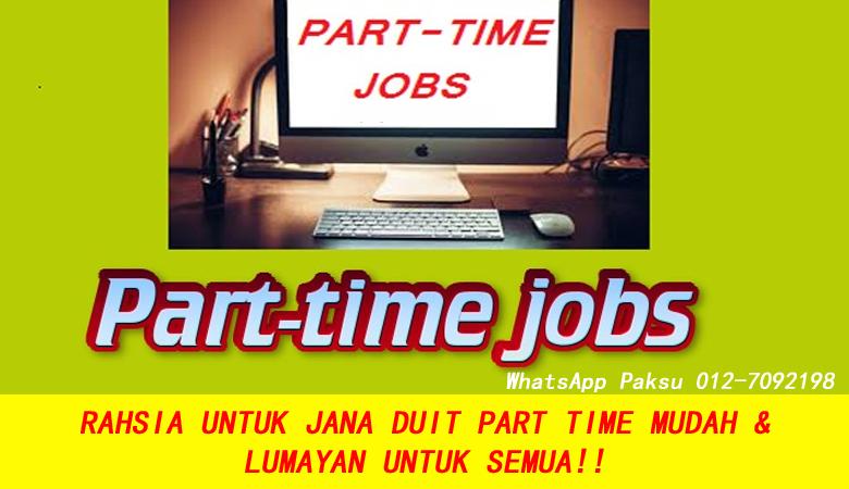Rahsia Untuk Jana Duit Part Time Untuk Sesiapa Sahaja Yang Berminat buat extra income jana pendapatan tambahan kerja bisnes part time sampingan sambilan