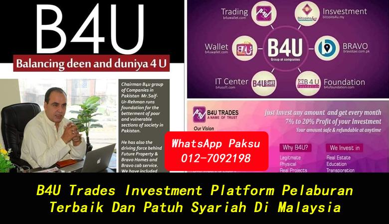 B4U Trades Investment Platform Pelaburan Terbaik Dan Patuh Syariah Di Malaysia platform pelaburan shariah compliance terbaik untuk jana pendapatan pasif 2020 2021 2022 2023 2024