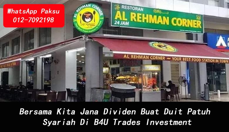 Bersama Kita Jana Dividen Buat Duit Patuh Syariah Di B4U Trades Investment platform pelaburan terbaik tahun 2020 2021 2022 2023 2024 platform buat profit setiap hari