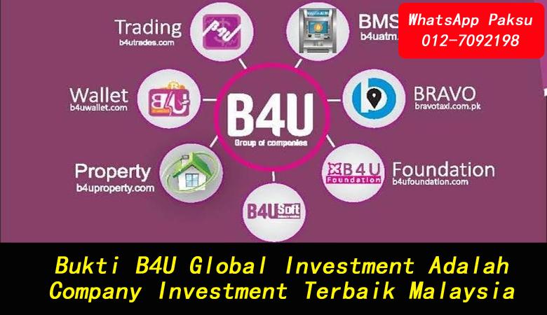 Bukti B4U Global Investment Adalah Company Investment Terbaik Malaysia company investment yang patuh syariah di malaysia senarai syarikat pelaburan di malaysia
