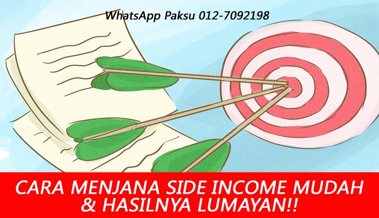 rahsia bagaimana cara menjana side income yang mudah dan hasilnya lumayan dan berbaloi tambah income extra income di masa covid time pkp