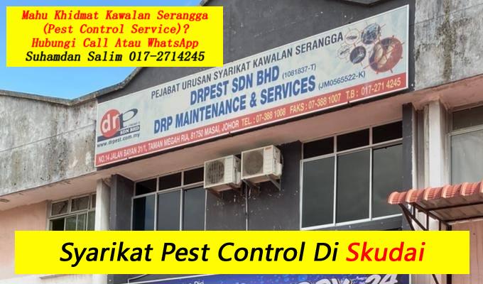syarikat drpest sdn bhd pest control company skudai khidmat membasmi kawalan makhluk perosak di skudai semburan basmi kuman sanitizing covid-19 disinfection service