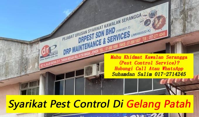 syarikat drpest sdn bhd pest control company skudai khidmat membasmi kawalan makhluk perosak semburan basmi kuman sanitizing covid-19 disinfection service di gelang patah dan sekitarnya