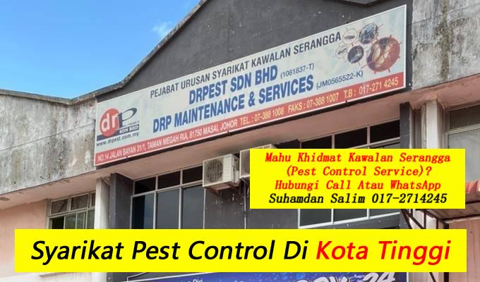 syarikat drpest sdn bhd pest control company skudai khidmat membasmi kawalan makhluk perosak semburan basmi kuman sanitizing covid-19 disinfection service di kota tinggi taman perumahan bandar sekitarnya