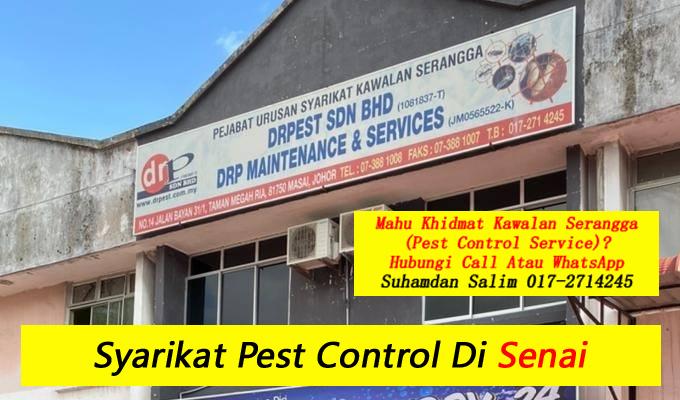 syarikat drpest sdn bhd pest control company skudai khidmat membasmi kawalan makhluk perosak semburan basmi kuman sanitizing covid-19 disinfection service di senai taman perumahan bandar sekitarnya