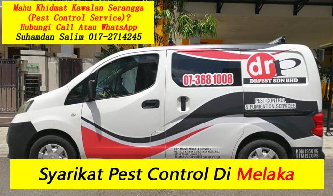 syarikat drpest sdn bhd pest control company skudai khidmat membasmi kawalan makhluk perosak semburan sanitize service covid-19 disinfection service melaka taman perumahan sekitarnya